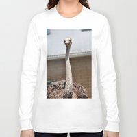 ostrich Long Sleeve T-shirts featuring Ostrich :) by IowaShots