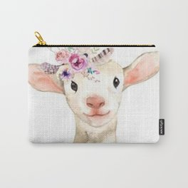 Lambsy Wears a Flower Crown Carry-All Pouch