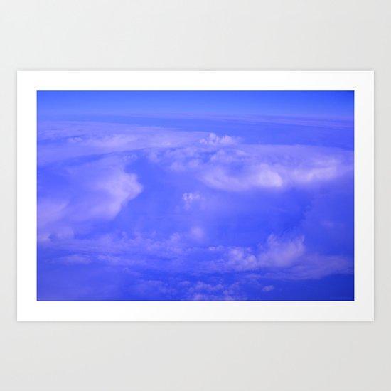 Aerial Blue Hues IV Art Print