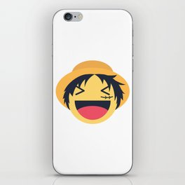 Monkey D. Luffy Emoji Design iPhone Skin