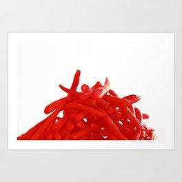 Red Green Beans Art Print
