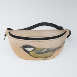 Songbird (Great Tit) on Autumn Day #decor #society6 #buyart Fanny Pack