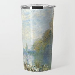 The Banks of The Seine in Autumn by Claude Monet Travel Mug