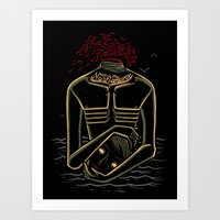camus Art Prints featuring the stranger - camus by miles to go