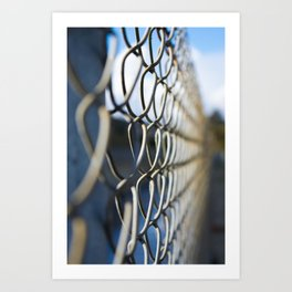 Fanciful Fence Art Print