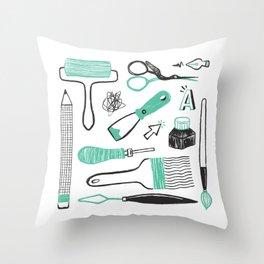 Art tools Throw Pillow