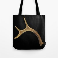 antler Tote Bags featuring Antler by gbcimages