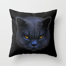 Cross Cat! Throw Pillow