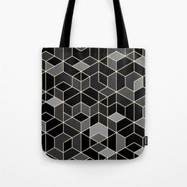 Black geometry / hexagon pattern Tote Bag