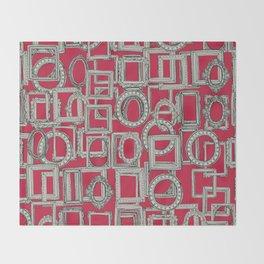 picture frames aplenty bone red Throw Blanket