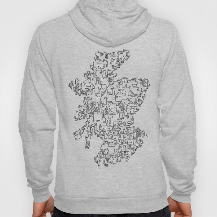 Scotland in one continuous line Hoody