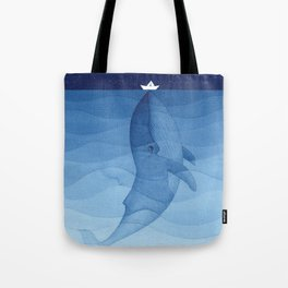 Whale blue ocean Tote Bag