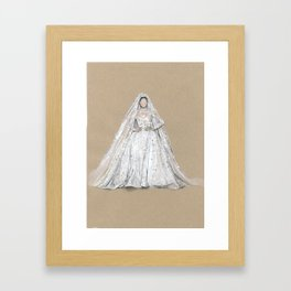 Zuhair murad Star Wedding Dress Illustration  Framed Art Print