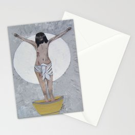 Original Acrylic Religious Painting --- The Last Supper---by Saribelle Rodriguez-- Stationery Cards