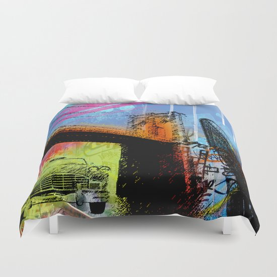 YORK, NEW YORK Duvet Cover