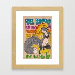 Gotta keep your head up Framed Art Print