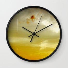 Sunset Sky in Norfolk Wall Clock