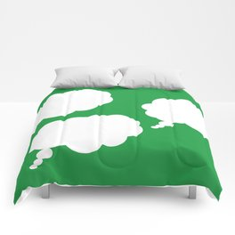 thoughts on green Comforters