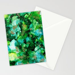 Abstractus Ink Green Stationery Cards