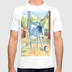 My Blue Horse MEDIUM White Mens Fitted Tee