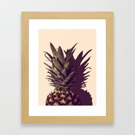 Pineapple and Shadow Framed Art Print