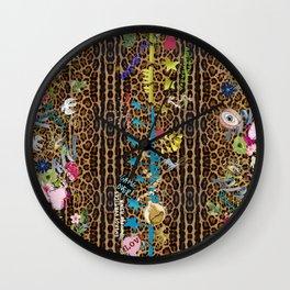 leopard garden vertical Wall Clock