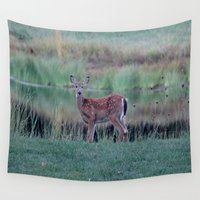 fawn Wall Tapestries featuring Fawn by Linda Wooderson