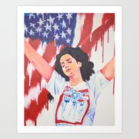 the national Art Prints featuring National Anthem by MariaBertosh