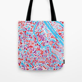 Vienna City Map Poster Tote Bag