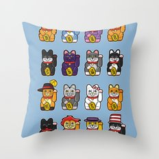 Fortune Cats Throw Pillow