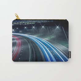 Tron like Light Trail Carry-All Pouch