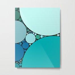 tara redux invert: pretty mint jade greens aquamarine abstract design Metal Print