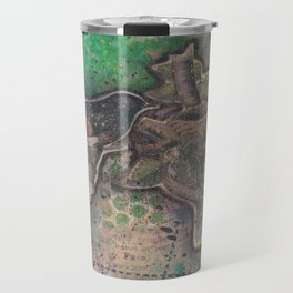 redstart bird canvas collage Travel Mug