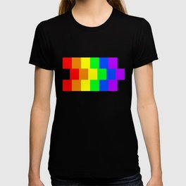 Rainbow Pride flag, Horizontal Stripes T-shirt