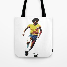 Socrates, Brazilian soccer superman Tote Bag