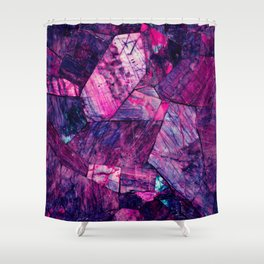 Labradorite Purple Shower Curtain