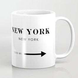 New York New York City Miles Arrow Coffee Mug