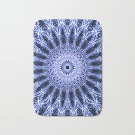 Mandala in cold blue tones Bath Mat