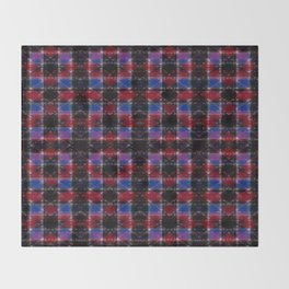 Cart Handle Semi-Plaid In Red, Pink, Blue, and Black Throw Blanket