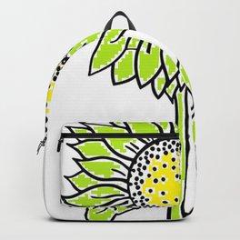 Girassol verde Backpack