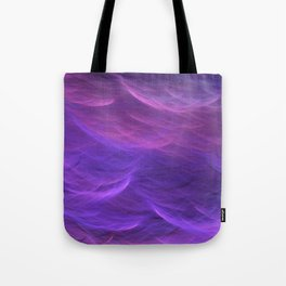 Pink and Purple Ultra Violet Soft Waves Tote Bag