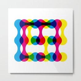 CMY Metaball Colour Mix Typography Metal Print