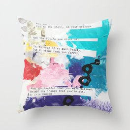 Made of beauty by Kasia Avery Throw Pillow