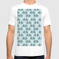 Bunny mad! White MEDIUM Mens Fitted Tee