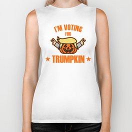 This I'm voting For Trumpkin T-Shirt Biker Tank
