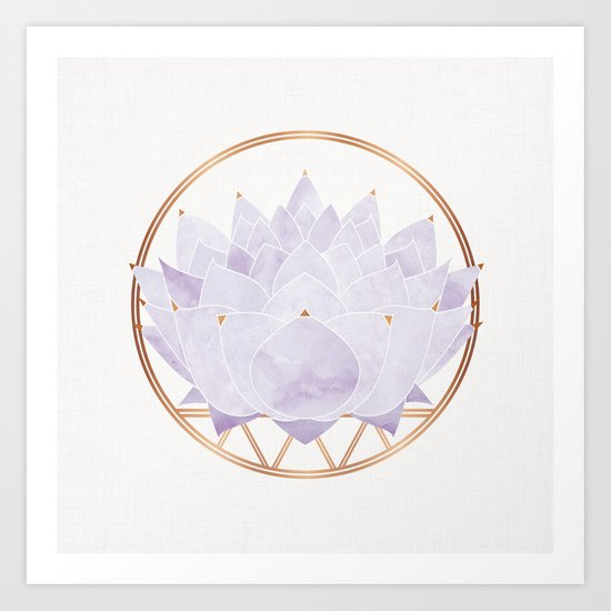 Lavender Lotus Blossom by kristiangallagher