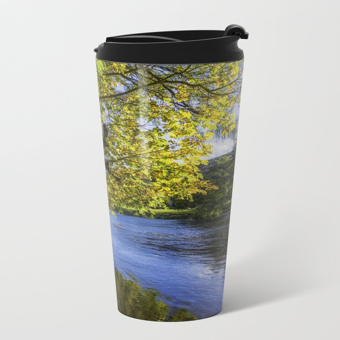 Autumn By The River Metal Travel Mug