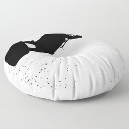 Up Up And Away Kiteboarder Silhouette Floor Pillow