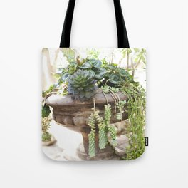 Overflowing Succulents Tote Bag