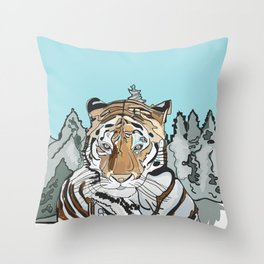 Tiger Cats Throw Pillow